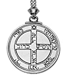 Handmade Talisman of Jupiter 6th and 7th Pentacle Key of Solomon Seal Hermetic Enochian Kabbalah Pewter Power Pendant (with 22 inch Chain)