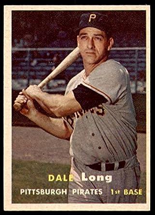 Verzamelingen Verzamelkaarten, ruilkaarten 1957 Topps #3 Dale Long Pittsburgh Pirates Baseball Card