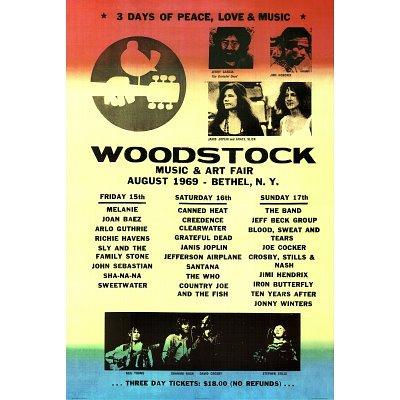 Woodstock Line-Up 1969 36x24 Art Print Poster Wall Decor - 3