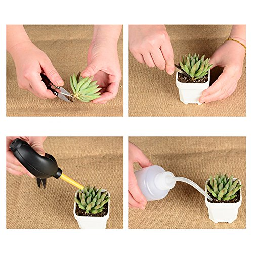 Thee-home 13 Pieces Mini Garden Hand Transplanting Succulent Tools Miniature Planting, Set for Indoor Fairy Care