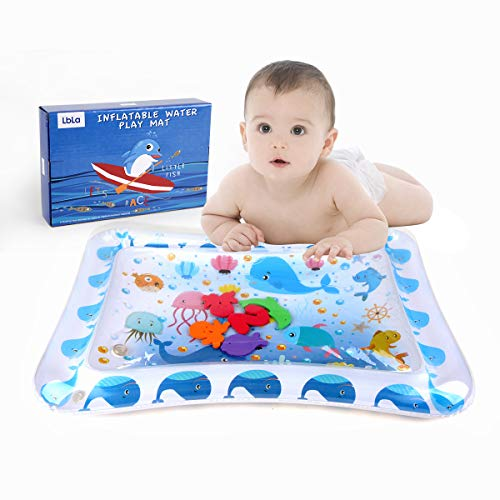 LBLA Baby Water Mat Baby Toys for 3-6 Months Inflatable Water Play Mat Tummy Time Activity Center Fun Time Toy for Infants and Toddlers
