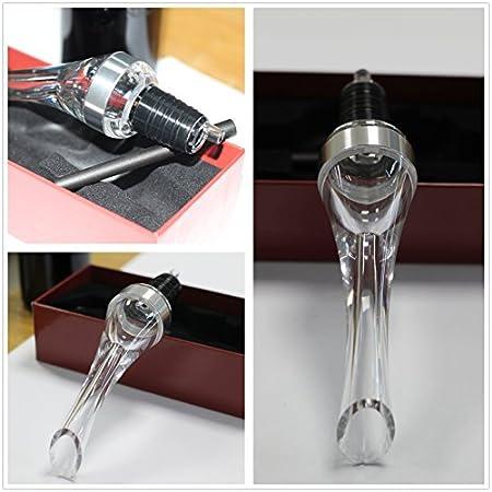 Aireador de Vino Decantador de Vino - ASOG Oxigenador de Vino Vertedor de Vino Profesional de Acero inoxidable Decantador Rápido Accesorios de Vino Fiesta Regalo Rerfecto