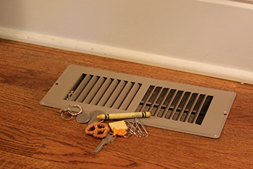 Floor Register Trap - Screen for Home Air Vents 4''x10'' by Floor Register Trap (Image #5)