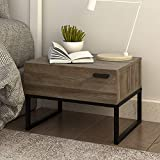 WLIVE 1 Drawer Nightstand, Wood Accent Table with