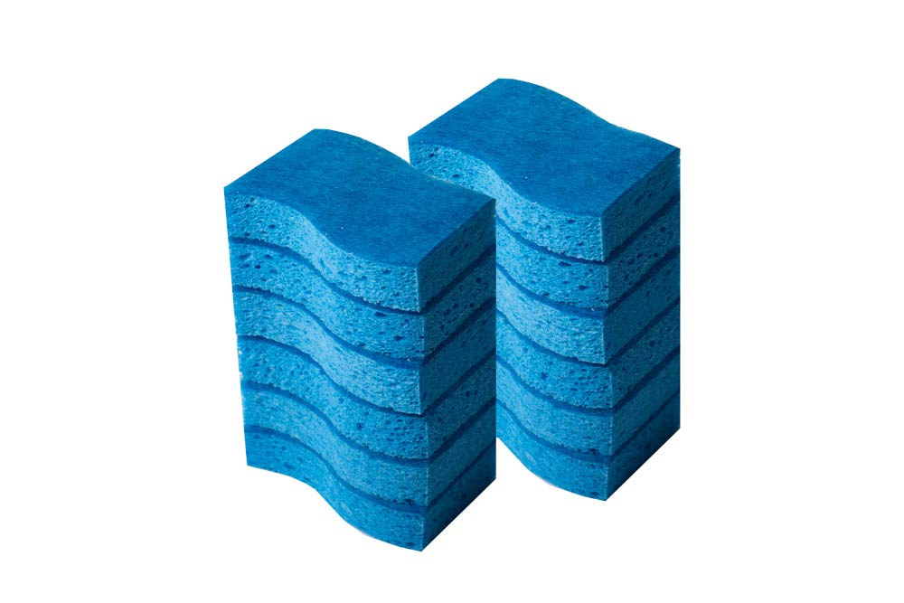 Pack of 12 Klickpick Home Multi Use Heavy Duty Non scratch Sponge Commercial cleaning Scrubber sponges