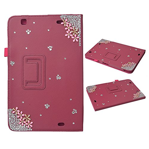 EVTECH(TM) 3D Handmade Bling Case for LG G Pad 10.1 Smart Shell Case - Ultra Slim Cover with Auto Sleep/Wake Feature for LG G Pad V700 10.1-Inch Android (Cupid Bow And Feathers)