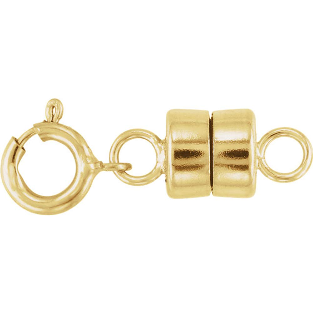 1 - New Solid 14K Yellow Gold Barrel Magnetic Converter Necklace Clasp with Spring Ring for Necklaces, Bracelets, and Anklets 14kt. - Jewelry By Sweetpea