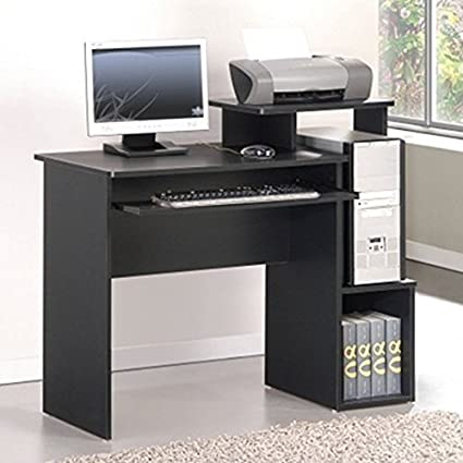 Paisley Home Office Rectangular Computer Desk With 1 Drawer And 2 Exterior  Shelves Made Of Manufactured