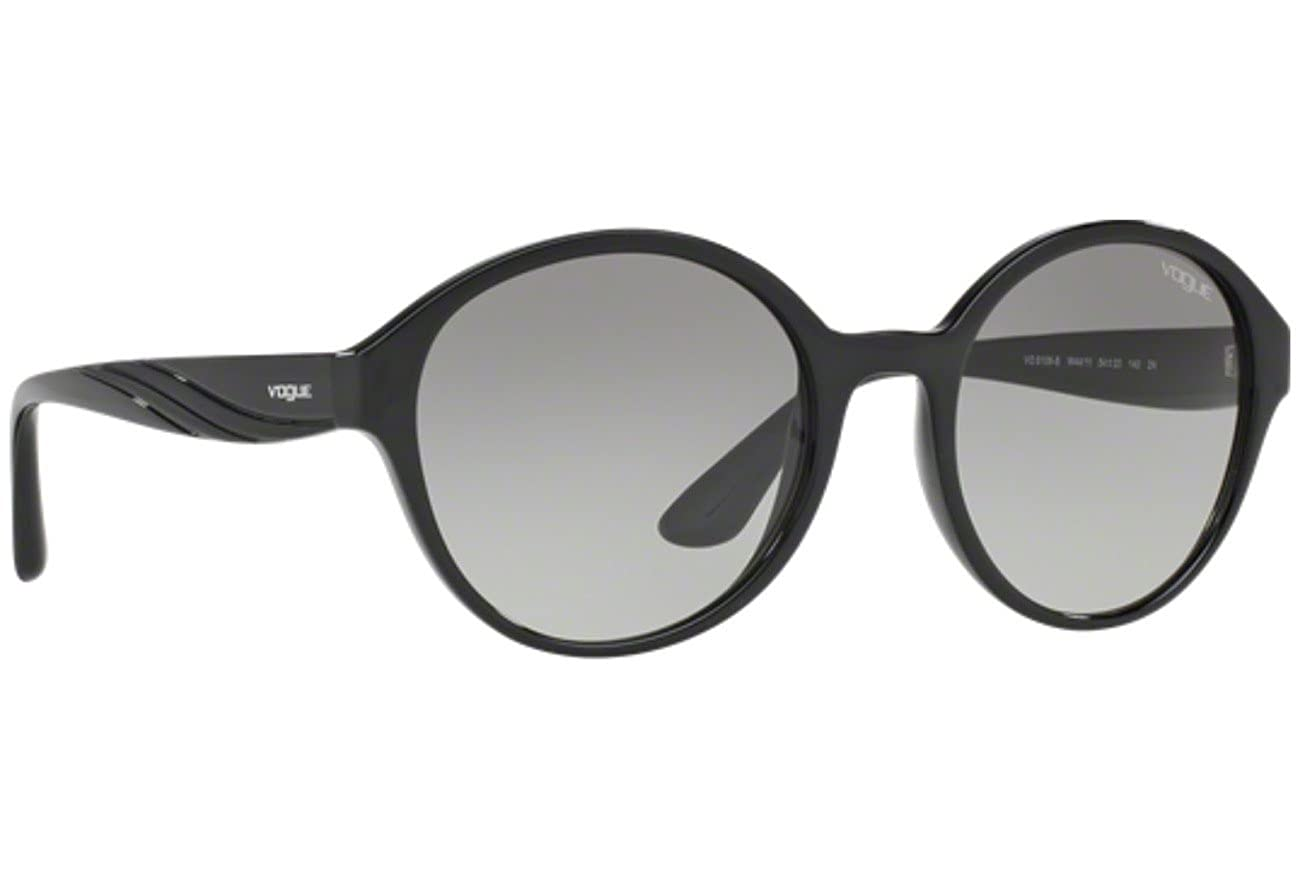 Vogue VO5106S W44//11 Black VO5106S Round Sunglasses Lens Category 3 Size 54mm