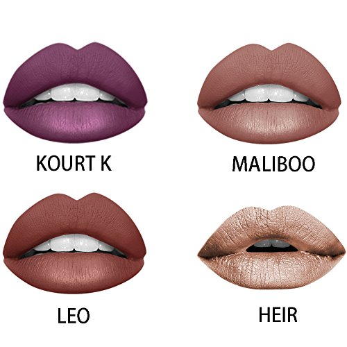 Ownest 4 Colors Matte Lipstick,Waterproof Long Lasting Lip G