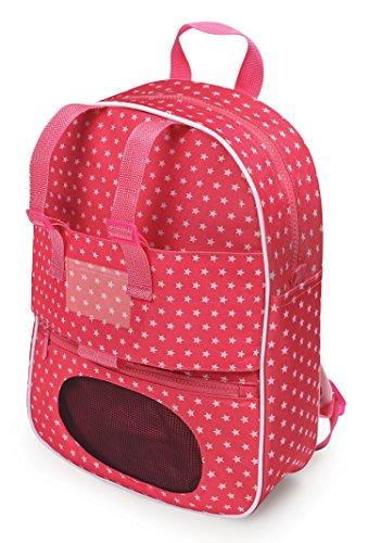 (Badger Basket Doll Travel Backpack with Plush Friend Compartment -)