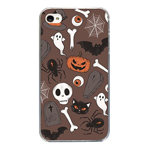 "Disagu SF-sdi-3814_1210#zub_cc2455 Design Schutzhülle für Apple iPhone 4 - Motiv ""Halloweenmuster 02"""