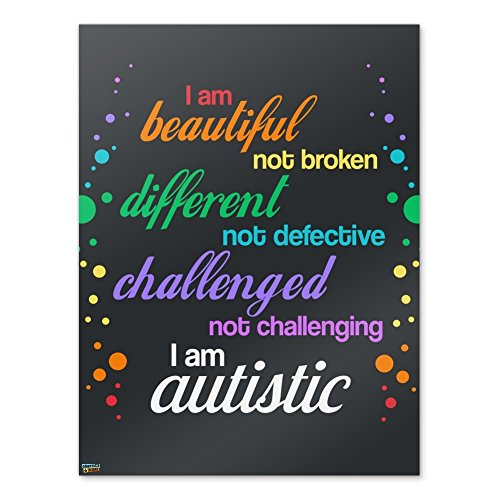 Graphics and More Beautiful Not Broken I Am Autistic Autism Home Business Office Sign - Poster - 18