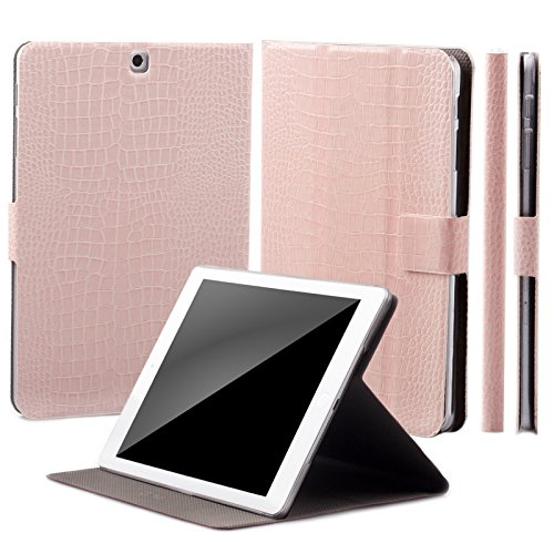 - iCues Case Compatible with Samsung Galaxy Tab S2 9.7 360° Rotating Stand Crocodile Caiman Rose Manzano Cover Other Leather - and Color Variations Smart Wallet Flip Thin Ultra Slim