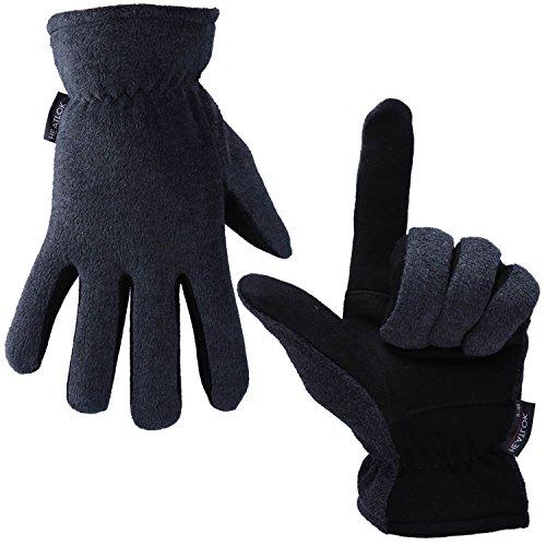 Men Women Winter Gloves Deerskin Suede Leather Palm -20°F Cold Proof Work Glove, no relevant skills.
