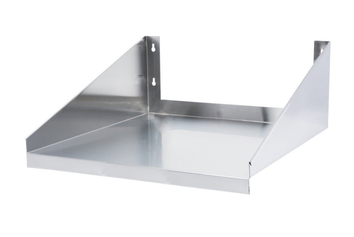 24'' x 24'', Stainless Steel Microwave Shelf (24 x 24 Inches)