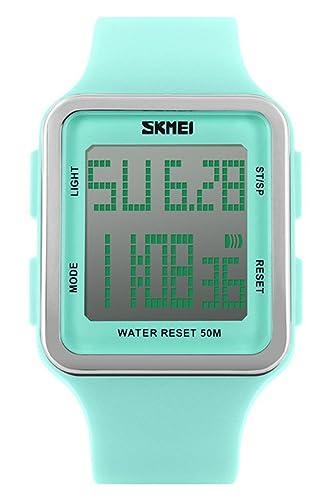 voguelady para mujer Fashion reloj Digital relojes de cuarzo resistente al agua reloj de pulsera, niñas cuadrado verde 1139: Amazon.es: Relojes
