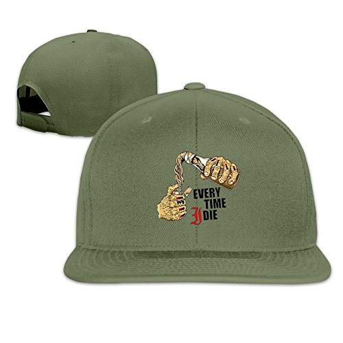 QWERT Unisex EVERY TIME I DIE Flat Billed Hats Baseball-caps 1 Size - 2016 For Reviews Sunglasses