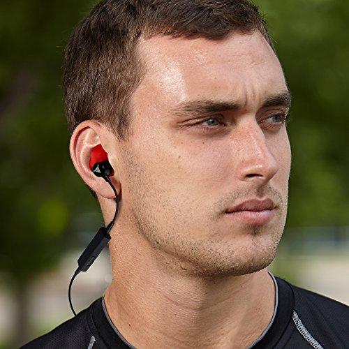 Decibullz - Custom-Fit Bluetooth Wireless Headphones, The First Custom Molded Wireless/Bluetooth Earphones (Orange) by Decibullz (Image #6)