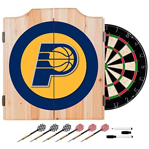 Trademark Gameroom NBA Indiana Pacers Wood Dart Cabinet Set by Trademark Gameroom
