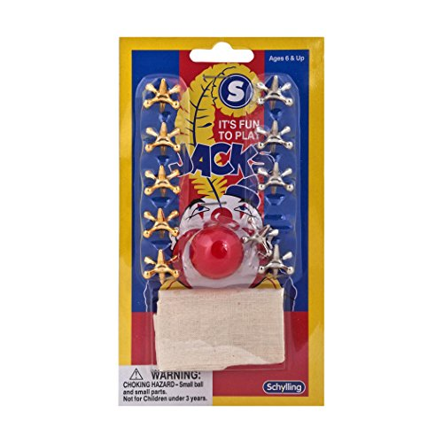 Metal Jacks and Rubber Ball Set by Schylling - 2 Pack - Twice the Nostalgia and Good Old Fasioned Fun!
