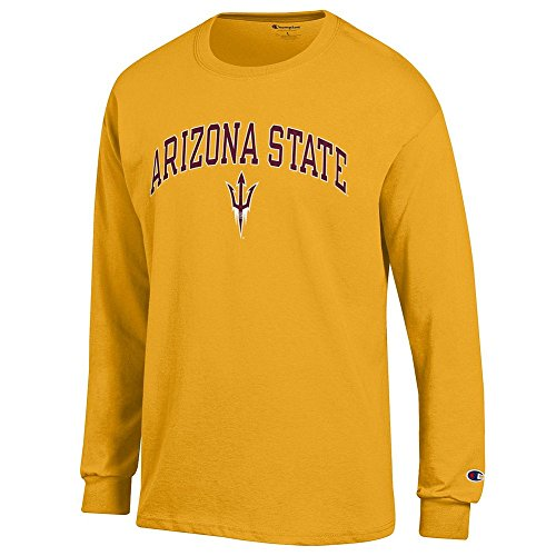 (Elite Fan Shop Arizona State Sun Devils Long Sleeve Tshirt Varsity Gold - XL)