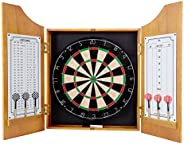 Trademark 15-9000 Solid Wood Dart Cabinet with Dartboard and Darts
