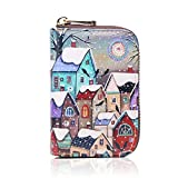 APHISONUK Credit Card Holder RFID Wallet for Women, Cartoon Patterns Accordion Style Small Purse for Girls/Gift Box/Snow House(028)