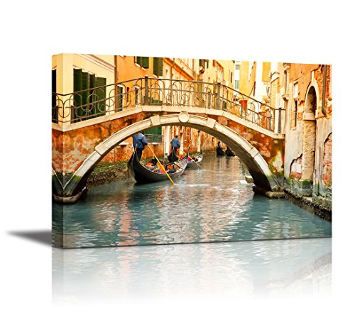 Canvas Wall Art - Beautiful Landscape of Venice | Modern Home Decor Canvas Prints Giclee Printing Wrapped & Ready to Hang - 24