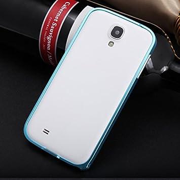 adorehouse Samsung Galaxy S4 i9500 Frame Funda, Estuche Metálico Carcasa Bumper Estuche Anti-Arañazos Metal de Caso del Marco metálico Case Back Cover para Samsung Galaxy S4 i9500 Frame (Cielo Azul): Amazon.es: Electrónica