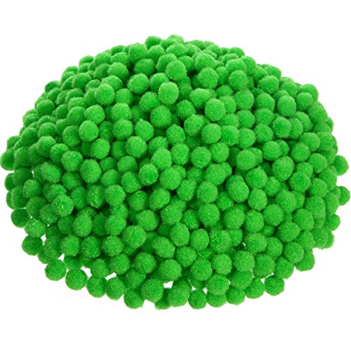 Shappy 2000 Pieces 0.5 Inch Pom Poms Arts and Crafts Pom Poms Balls for Creative Craft DIY and Hobby Supplies (Fruit Green)