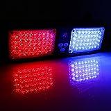 VGEBY Car 12V 86 LED Sun Visor Strobe Flash Light Emergency Hazard Warning Lamp ( Color : Red+Blue )