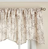Lorraine Home Fashions Olivia Curtian Window Valance, 52 inch x 18 inch, Light Cocoa