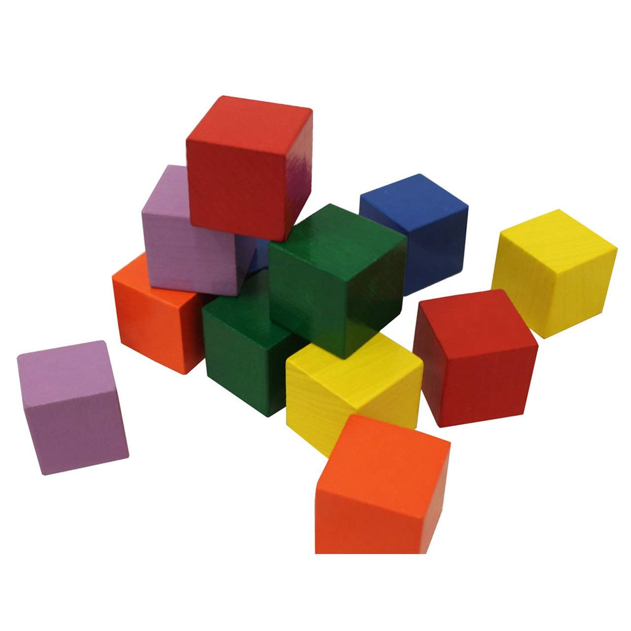 HABA Baby's First Basic Block Set - 12 Colorful Wooden Cubes (Made in Germany)