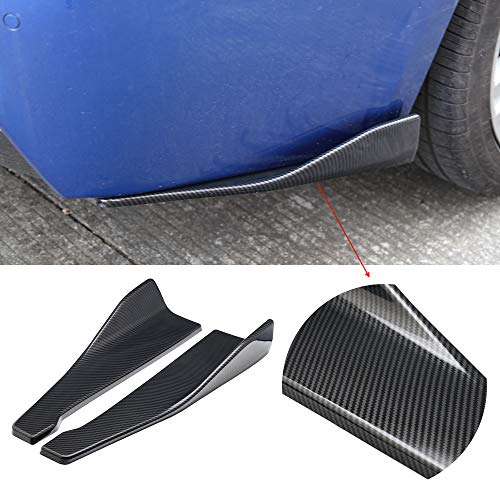 - DTOUCH RACING Rear Bumper Lip Lower 48CM Carbon Black Corner Valance Covers Splitter Spoilers