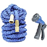 BOOM Flexible Garden Water Hose Pipe with Spray Gun, Blue (100-Feet)