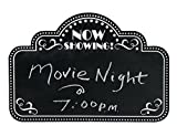 Movie Night Marquee Chalkboard Wall Decor (18'' x 12'') Wood.