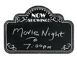 Movie Night Marquee Chalkboard Wall Decor (18'' x 12'') Wood.