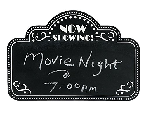 Movie Night Chalkboard Wooden Wall Decor - 18 Inches by 12 Inches ()