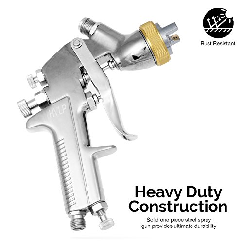 Neiko 31215A HVLP Gravity Feed Air Spray Gun   1.7mm Nozzle Size   600cc Aluminum Cup by Neiko (Image #1)