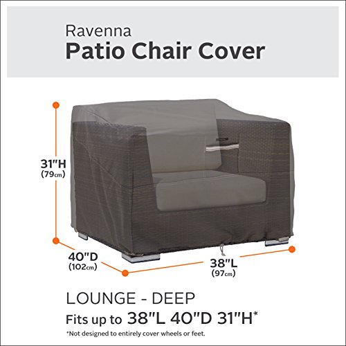 Classic Accessories 55-422-015101-2PK Ravenna Deep Seated Patio Lounge Chair Cover (2-Pack) by Classic Accessories (Image #2)