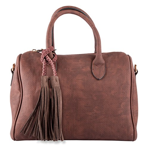 LALU' Dianora - Bolsa Bowling Mujer Rosso (Bordeaux)