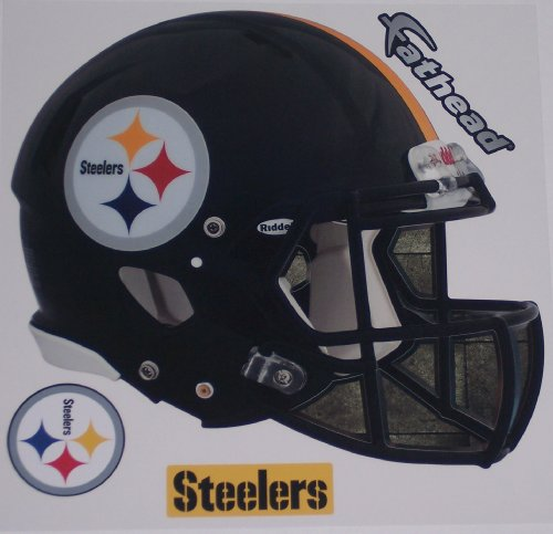 FATHEAD Pittsburgh Steelers Team Helmet Logo Official NFL Vinyl Wall Graphic 12