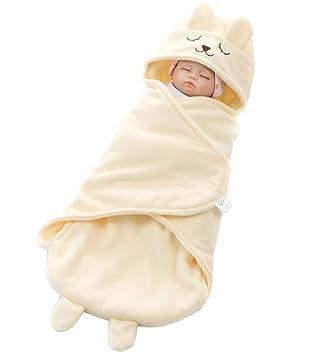 ML Saco de Dormir para bebés, recién Nacido Infantil, Super Suave Polar Polar de Dibujos Animados, niño y niña (1-12 Meses),Beige: Amazon.es: Deportes y ...