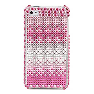 Protective PVC Case with Crystals Cover for iPhone 4, 4S , Green