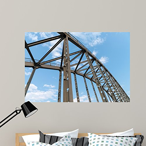 Wallmonkeys FOT-117747574-48 WM360448 Steel Bridge Arches Peel and Stick Wall Decals (48 in W x 32 in H), x x Large (Bridge Girder Steel)