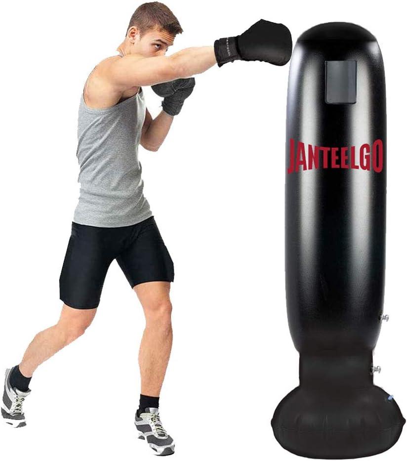 Gemgo Saco de Boxeo, Boxeo Inflable autoportante Aptitud Objetivo Bolso del Soporte de la Torre, MMA perforación Kick Formación Tumbler Bop Bolsa para aliviar la presión del Culturismo
