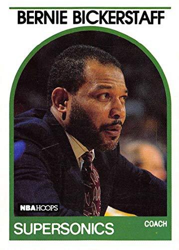 1989-90 Hoops Basketball #269a Bernie Bickerstaff SP Short Print Seattle SuperSonics ERR Born 2/11/1944 Official NBA Trading Card