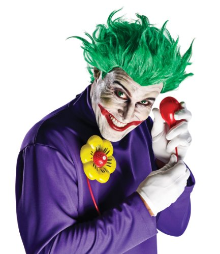 Mask Costume Tuxedo Amazon (DC Comics Justice League Arkham Asylum Joker Kit, Standard Color, One)