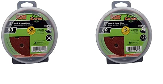 United Abrasives-SAIT 34250-AE 5-Inch Hook and Loop 40X Disc 50 Pack